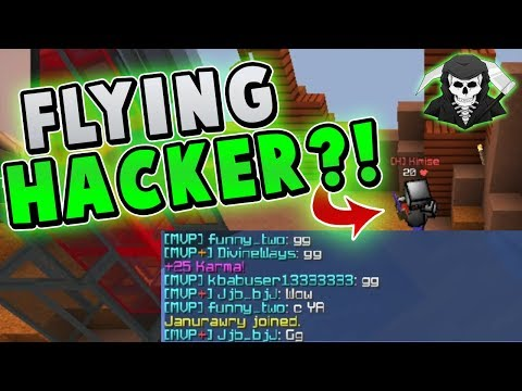 INSANE FLYING HACKER TAKES L! ( Hypixel Skywars FUNNY MOMENTS )
