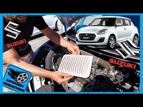 Suzuki Swift Air Filter / Cleaner Maintenance Removal & Replacement How to Tutorial, Maruti A2L
