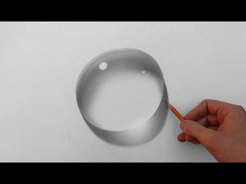 Капля воды - рисунок карандашом (how to draw a water drop)