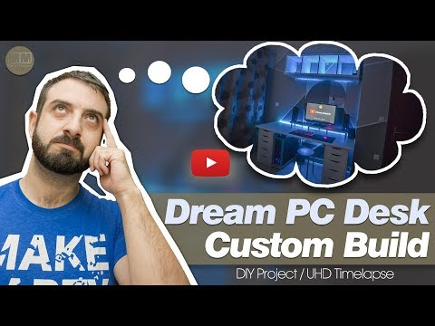 Dream PC Desk Custom Build (IKEA ideas)| Multimaker's UHD Timelapse