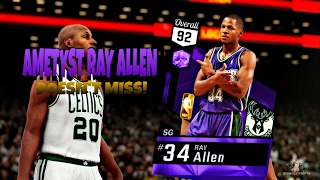 nba 2k17 my team pulled amethyst ray allen best shooter in game ray allen highlights