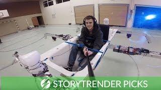 World's First Flying Bath Tub