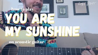 You Are My Sunshine (Johnny Cash) - Acoustic Tutorial | Advanced Version