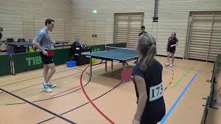 Lohmueller Mideck vs Kueber Roth Bayer  Jugendm  Ansbach 20181208 Table Tennis Stativ  3