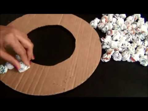How to make a wreath with recycled materials youtube for Making hut with waste material
