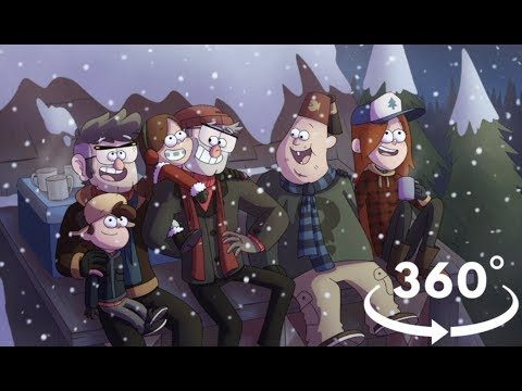 Happy New Year 2018 from Gravity Falls (360° video)