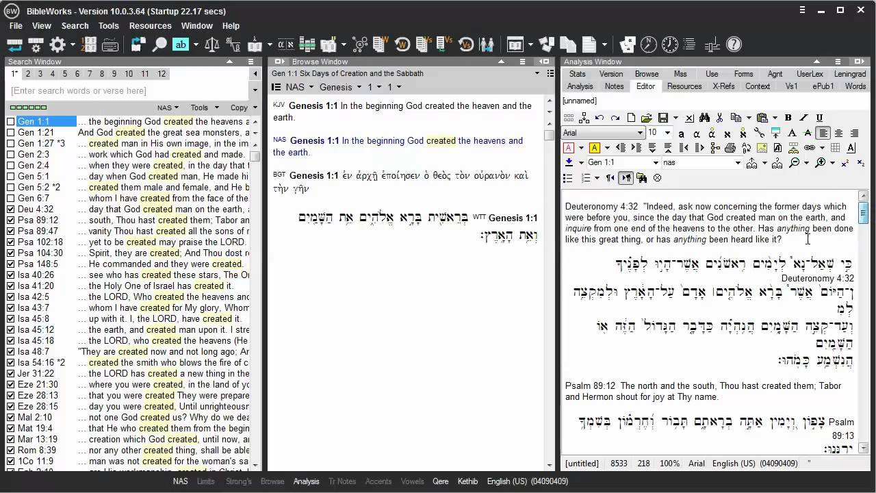 How to Set BibleWorks to Export in Non Unicode Fonts (Bwgrkl & Bwhebb) BW10