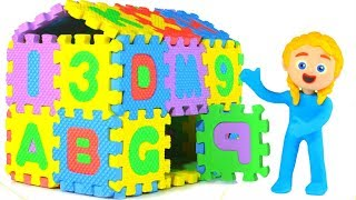 Kids Building An ABC Playhouse ❤ Cartoons For Kids
