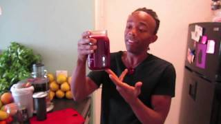 "Power Juice Feast And Cleanse Day #17 - ""the Red Rumbler Juice"""
