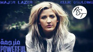 Major Lazer & Ellie Goulding - Powerful   Lyrics Video   مترجمة