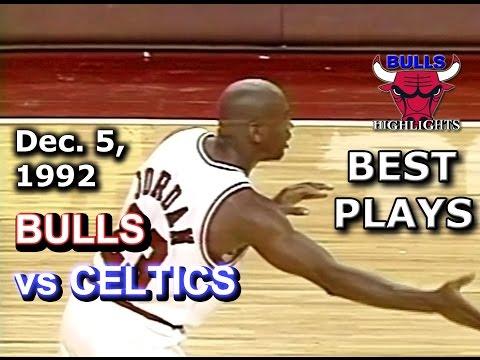 December 05 1992 Bulls vs Celtics highlights