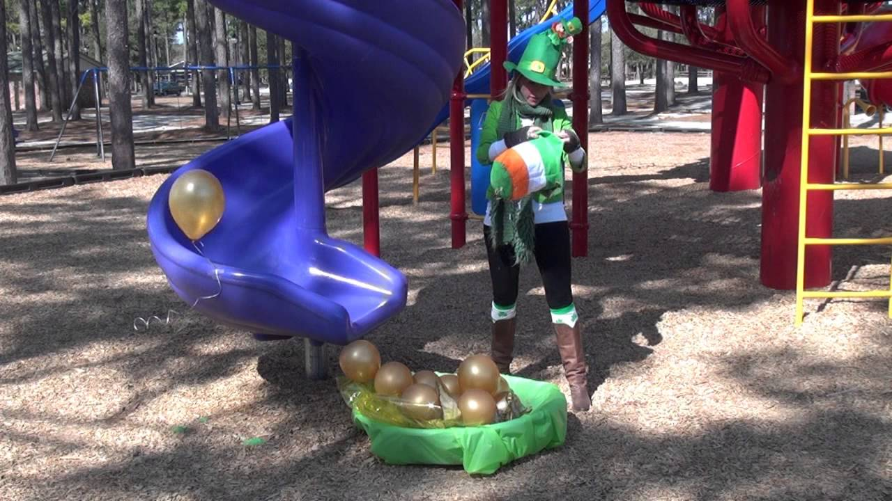 crazy blonde leprechauns find a pot of gold youtube