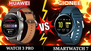 HUAWEI WATCH 3 PRO VS GIONEE SMARTWATCH 7 Which is BEST?