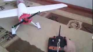 Радиоуправляемый самолет из потолочки(Размах 98 см. Масса 600гр., 2014-01-25T11:17:50.000Z)