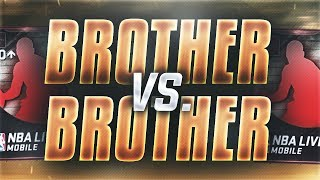 NBA Live Mobile - BROTHER vs BROTHER PACK WAR!!! BEST PACKS YET!! ELITE VARIETY OPENING!! Who Wins?