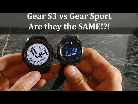 Samsung Gear Sport vs Samung Gear S3 Frontier