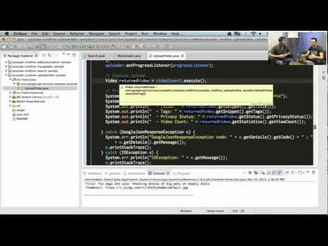 YouTube Developers Live: Setting up your Java IDE for Google API samples