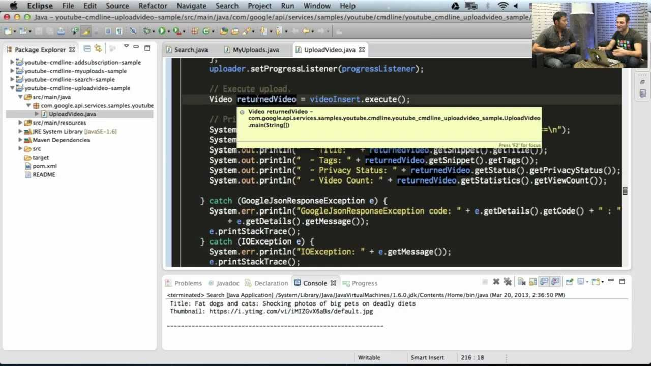 YouTube Developers Live: Setting up your Java IDE for Google API ...