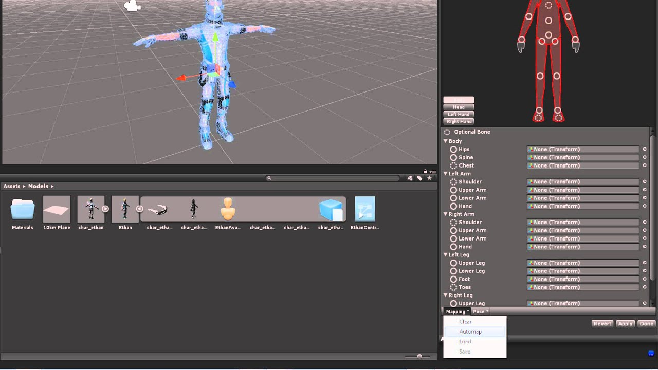 Humanoid Avatars - Unity Official Tutorials - YouTube