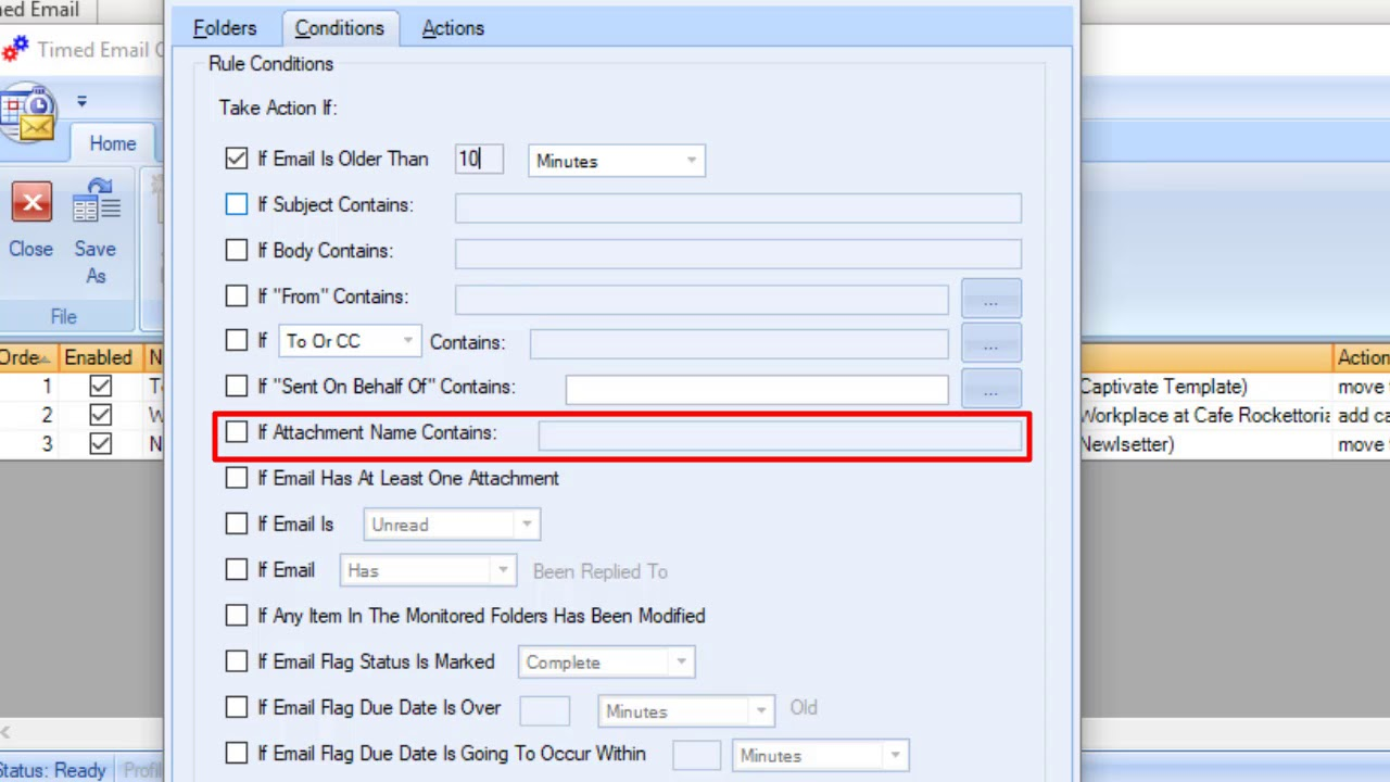 Timed Email Organizer