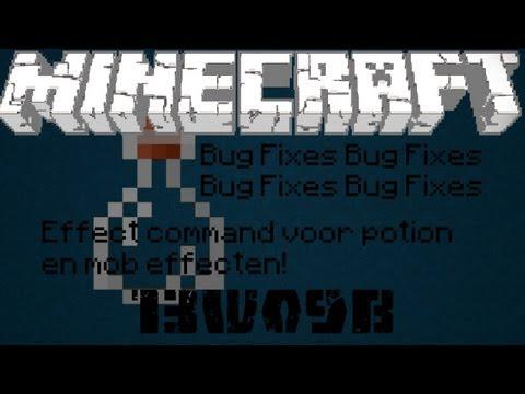 Minecraft Snapshot 13w09b - Effect commando! Meer bugs gefikst!
