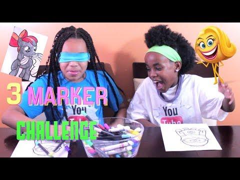 3 MARKER KIDS CHALLENGE!!!