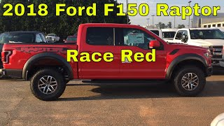 2018 Ford F150 Raptor - 3.5L V6 Ecoboost -  Race Red - Exterior Walk Around & Interior Look