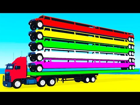 Thumbnail: Learn colors w Long Cars & Spiderman Learn Numbers in Cartoon for Kids Learning Video