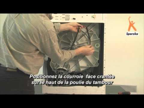 courroie machine laver youtube. Black Bedroom Furniture Sets. Home Design Ideas