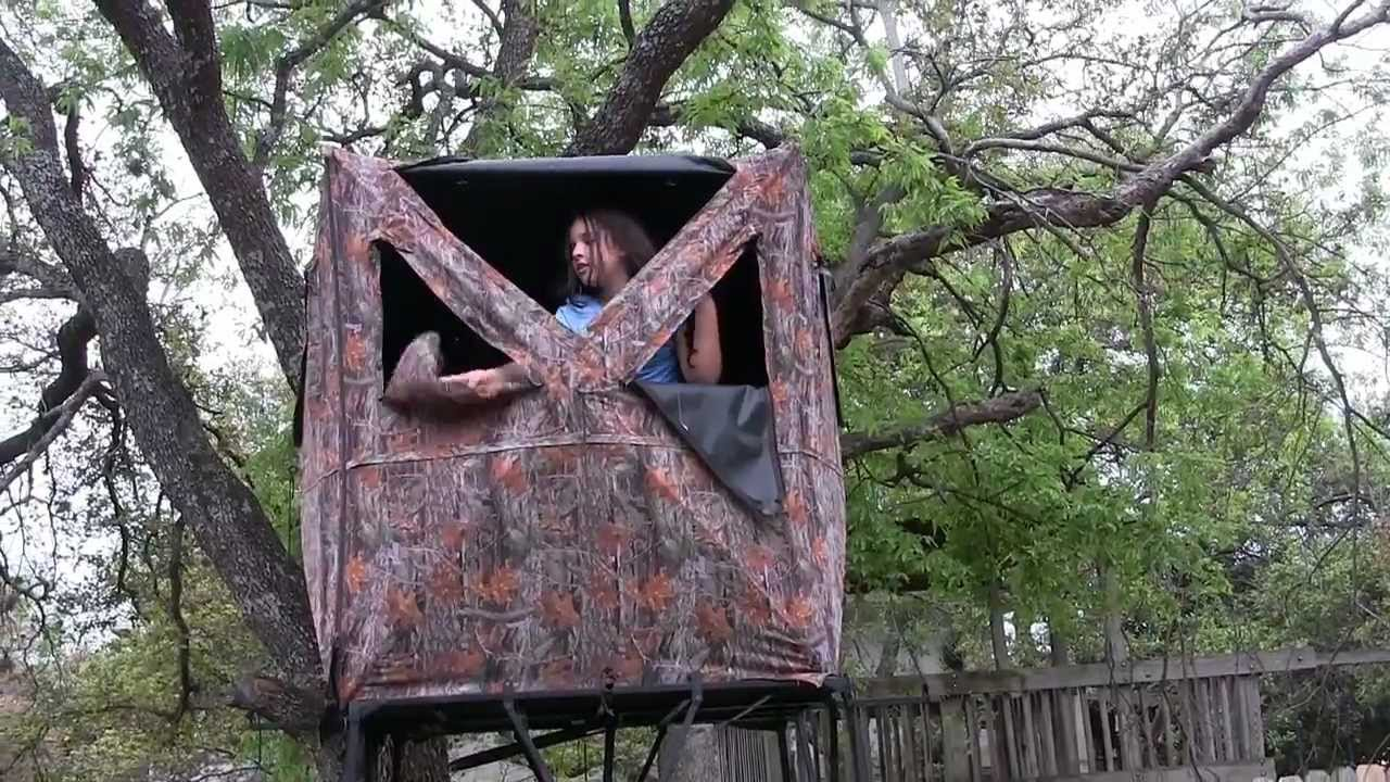 "Kids Tree House the ""no construction"" tree house for kids - youtube"