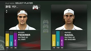 ROGER FEDERER VS RAFAEL NADAL AUSTRALIAN OPEN GRAND SLAM TENNIS 2 XBOX 360 FULL MATCH GAMEPLAY (HD)