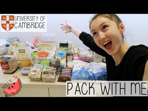 HOW TO QUICKLY + EFFICIENTLY PACK FOR UNIVERSITY FT. A HUGE VEGAN FOOD HAUL