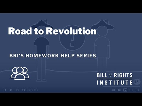 Road To Revolution | BRI Homework Help
