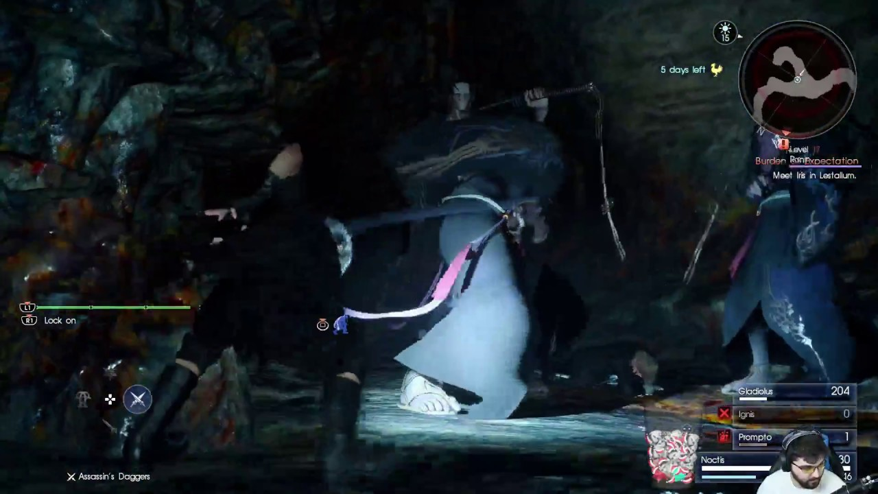 Final Fantasy 15: Level 1 Challenge - Daurell Caverns Dungeon