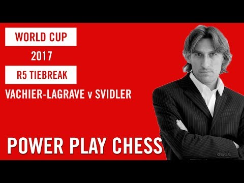 World Cup 2017 Tbilisi Round 5 Tiebreak Maxime Vachier-Lagrave v Peter Svidler