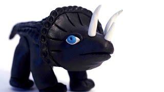 Динозавр из пластилина. Лепка из пластилина видео уроки.