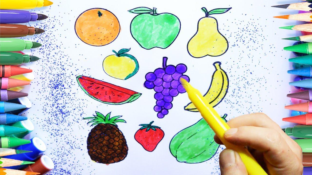 Meyve Boyama Sayfasi Renkleri öğreniyorum Youtube