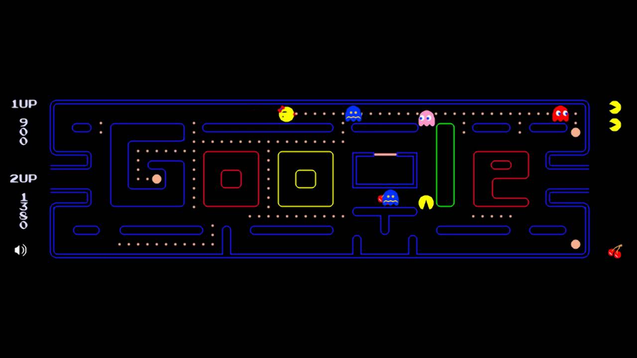 Google Doodle Pac-Man And Ms. Pac-Man