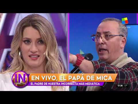 Mica Viciconte y su padre se emocionaron en Incorrectas