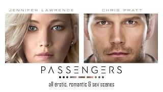 Passengers (2016) - All Sex, erotic and romantic scenes