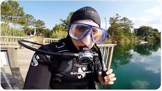 Scuba Diving in Fantasy Lake Scuba Center