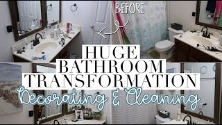 HUGE ROOM MAKEOVER | CLEAN & DECORATE WITH ME - Master Bathroom Transformation