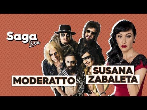 #SagaLive Susana Zabaleta y Moderatto con Adela Micha