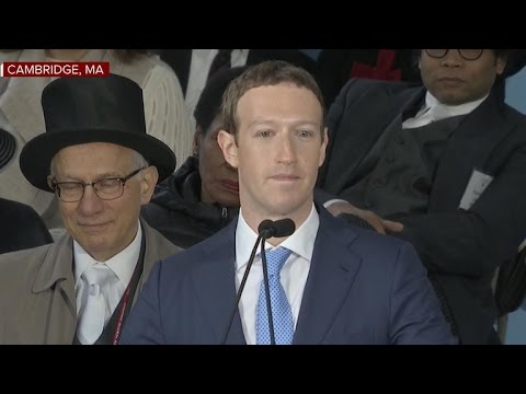 Mark Zuckerberg gives commencement address at Harvard