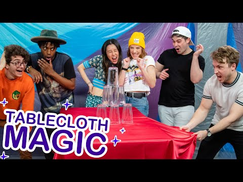 We Attempt The Magic Table Cloth Challenge
