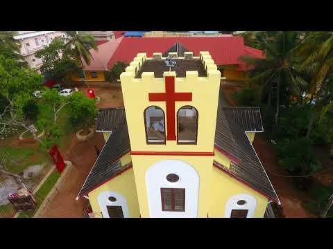 calvary Lutheran church Peroorkada drone view 2