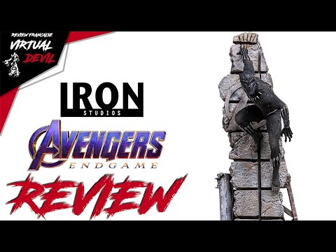 BLACK PANTHER - AVENGERS END GAME - IRON STUDIOS - BDS 1/10 ! REVIEW !
