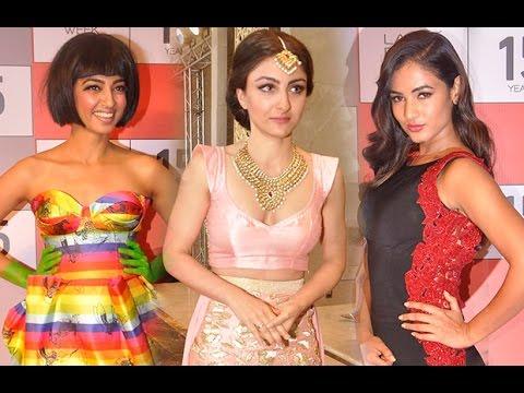 Radhika Apte, Soha Ali Khan At Lakme Fashion Week Press Conference