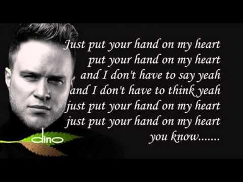 OLLY MURS - HAND ON HEART (On Screen Lyrics)