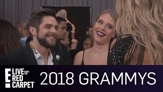 Thomas Rhett Gushes Over Amazing Daughters at 2018 Grammys  E Live from the Red Carpet